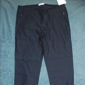 Straight leg Calvin Klein rayon black pants